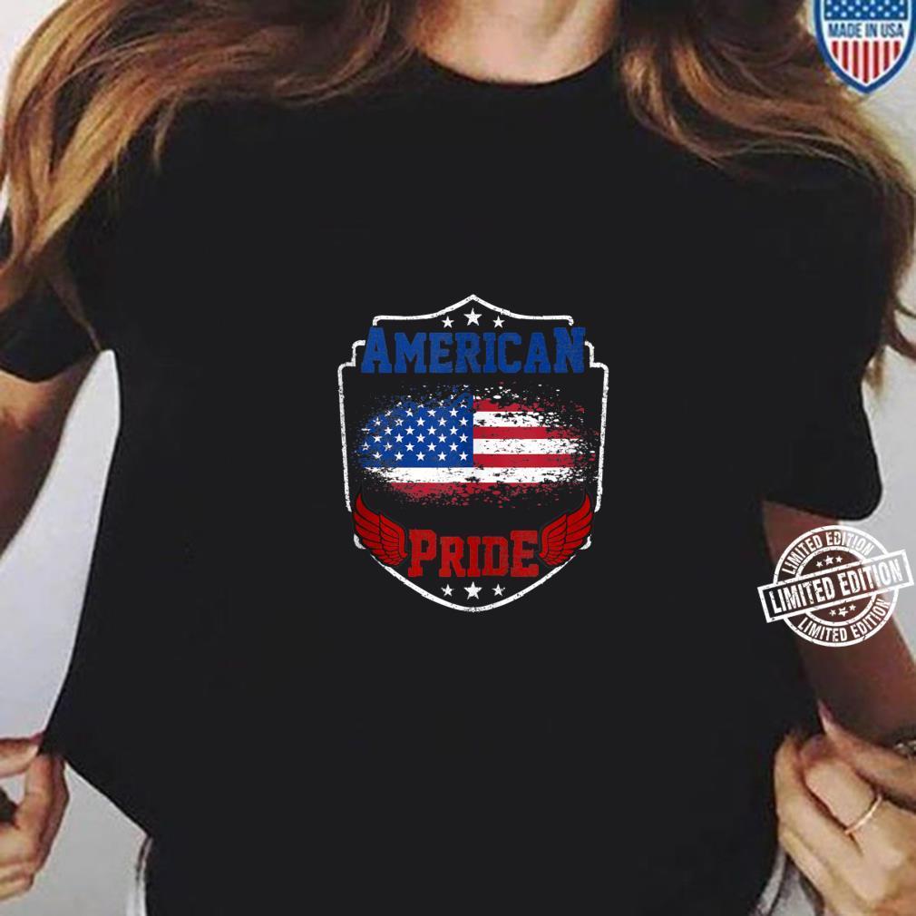 American Pride proud American USA Flag patriotic Shirt ladies tee