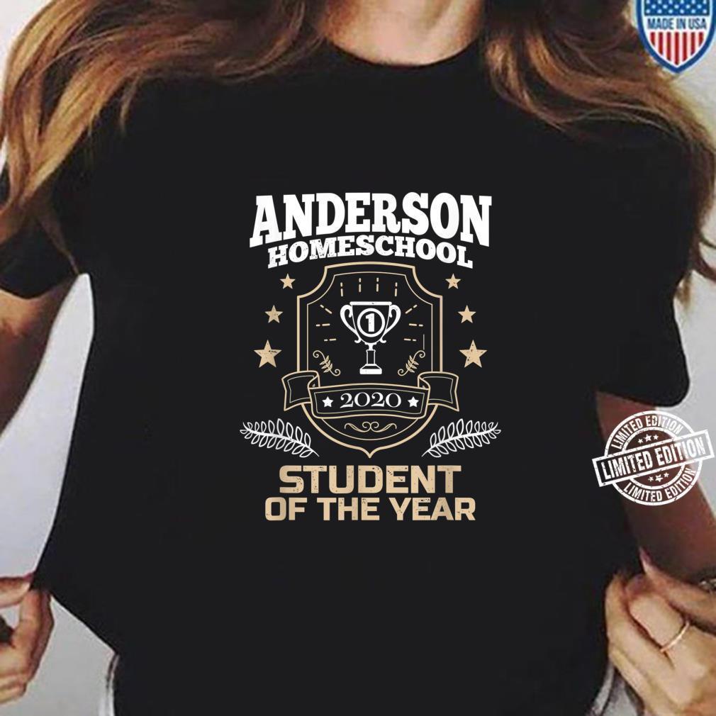 Anderson Homeschool Student of the Year 2020 Shirt ladies tee