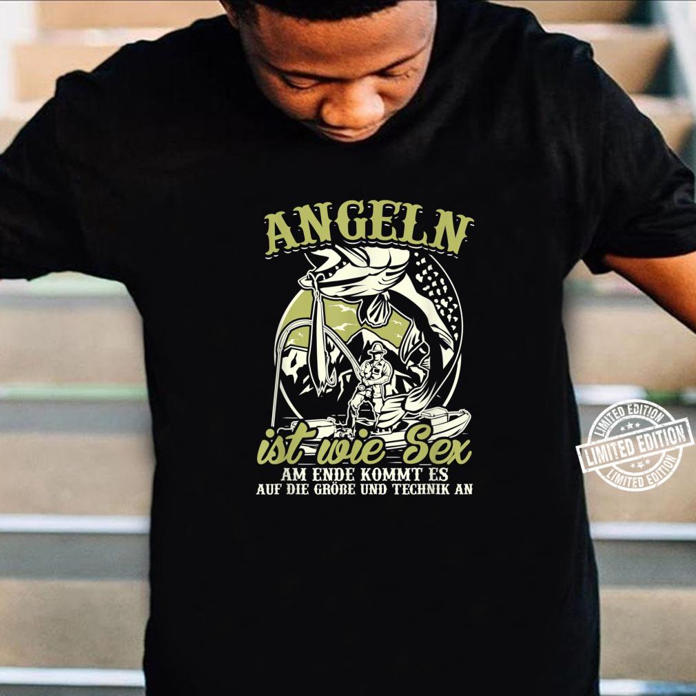 Angler Shirt Herren Sex Angel Geschenk Fischer Fisch Shirt