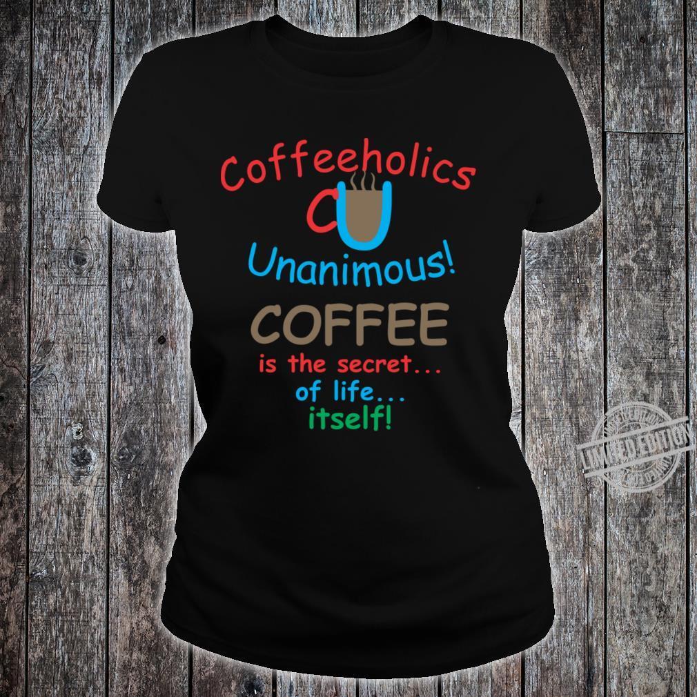 Coffee Drinks Shirt ladies tee