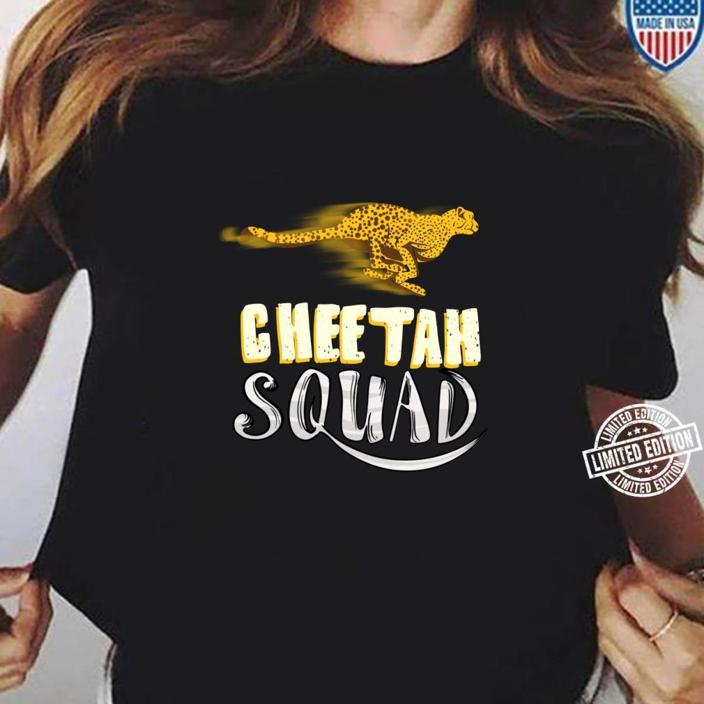 Cool Cheetah Squad Large Cat Group Fan Shirt ladies tee