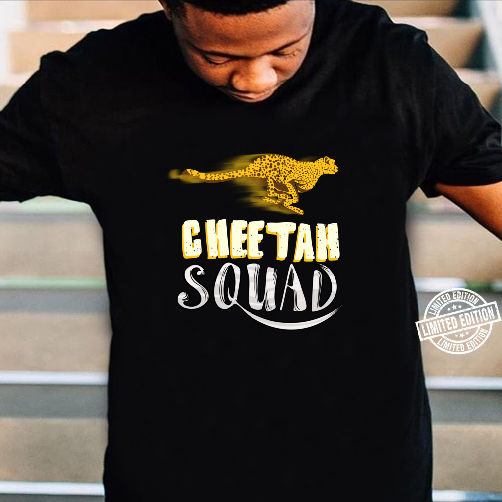 Cool Cheetah Squad Large Cat Group Fan Shirt