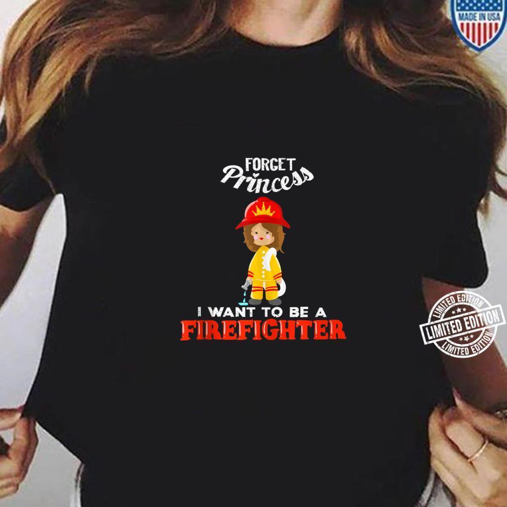 Cool Forget Princess Firefighter Fire Fan Shirt ladies tee