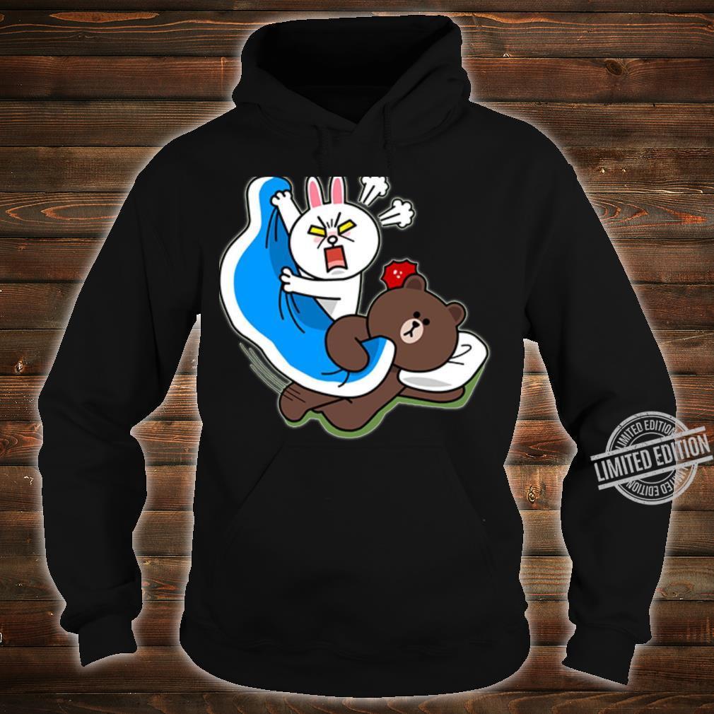 Cute brown bear and bunny Shirt hoodie