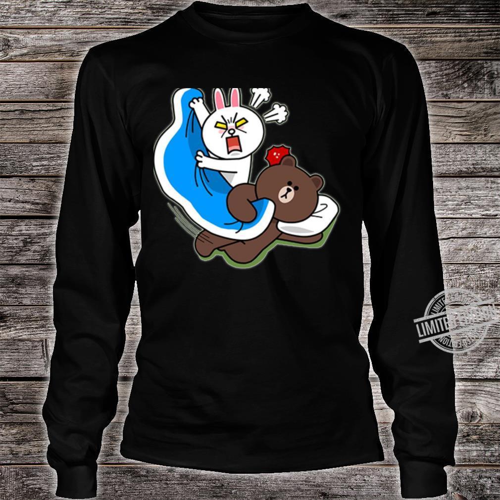 Cute brown bear and bunny Shirt long sleeved