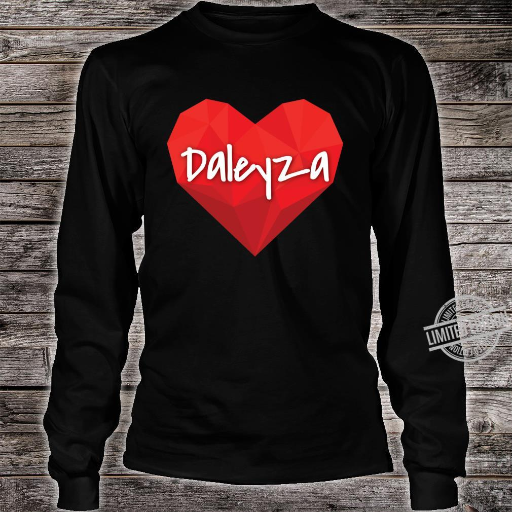 Daleyza in My Heart Forever Love Slim Fit Shirt long sleeved