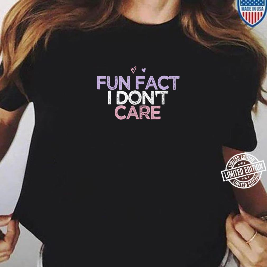 Fun Fact I Don't Care Girls Beach Vacation Summer Shirt ladies tee