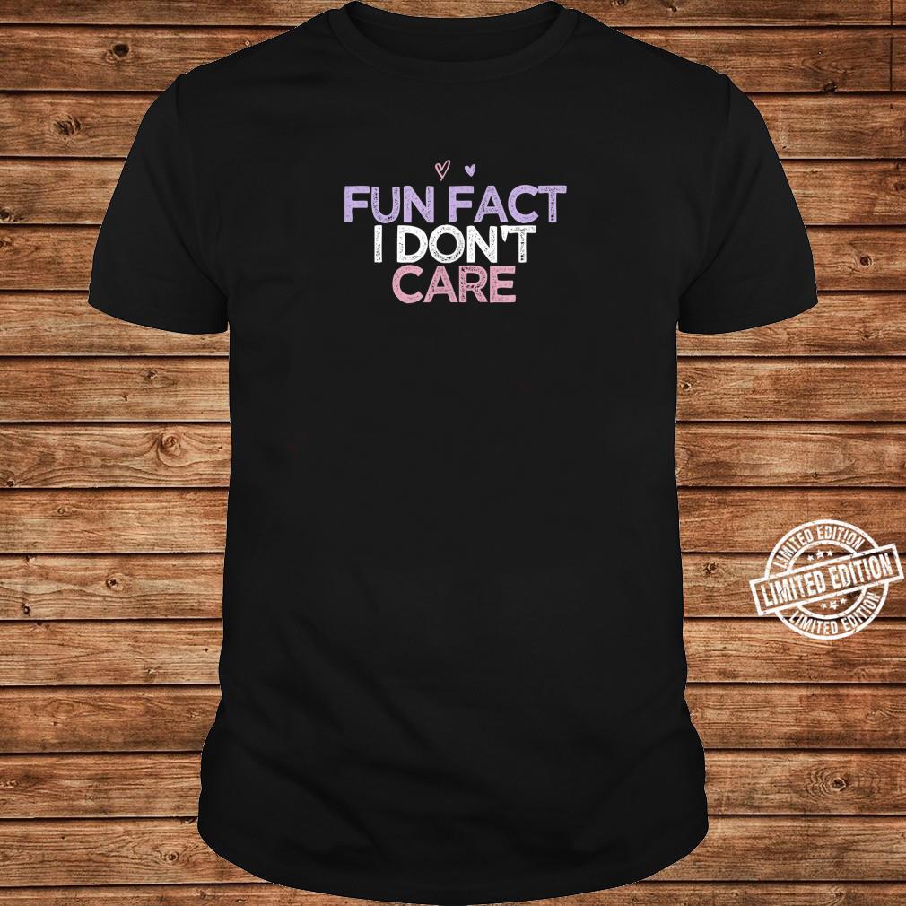 Fun Fact I Don't Care Girls Beach Vacation Summer Shirt long sleeved