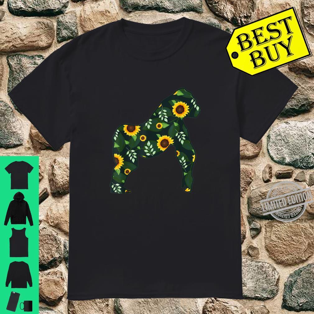 Gorilla Sunflower Girl Floral Ape Animal Hawaiian Shirt