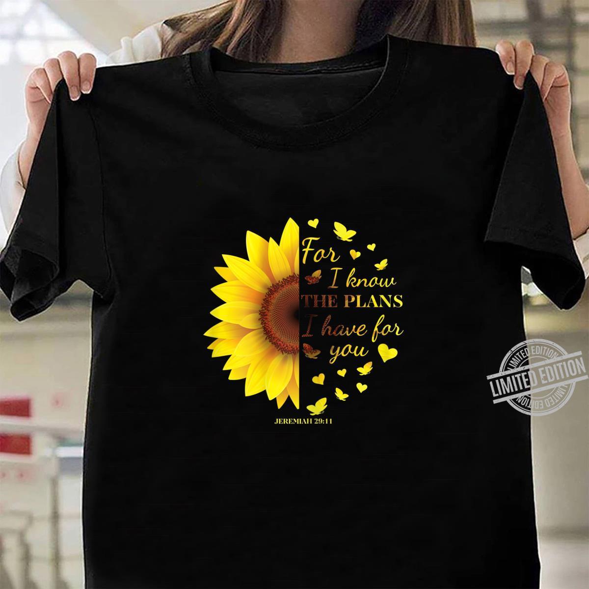 Jeremiah 2911s Cute Bible Verse Shirt ladies tee