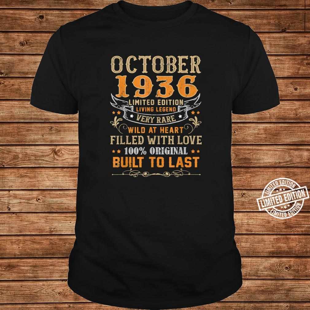 October 1936 Shirt 83 Yrs Old 83rd Bday For Him Her Shirt long sleeved
